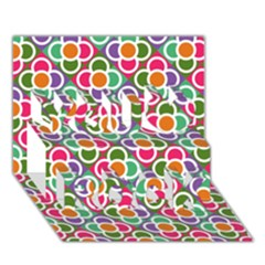 Modernist Floral Tiles You Rock 3d Greeting Card (7x5) by DanaeStudio