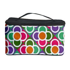 Modernist Floral Tiles Cosmetic Storage Case