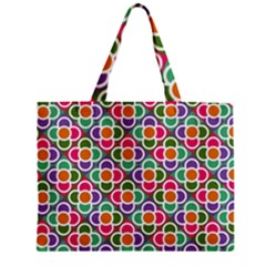 Modernist Floral Tiles Zipper Mini Tote Bag