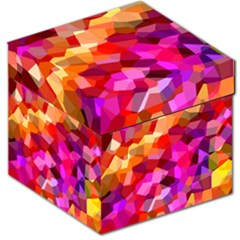 Geometric Fall Pattern Storage Stool 12