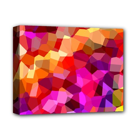 Geometric Fall Pattern Deluxe Canvas 14  X 11