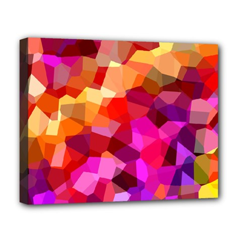 Geometric Fall Pattern Deluxe Canvas 20  X 16
