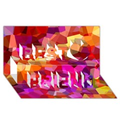 Geometric Fall Pattern Best Friends 3d Greeting Card (8x4)