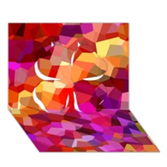 Geometric Fall Pattern Clover 3d Greeting Card (7x5)