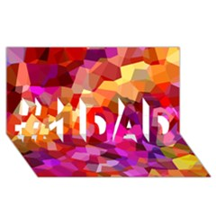 Geometric Fall Pattern #1 Dad 3d Greeting Card (8x4) by DanaeStudio