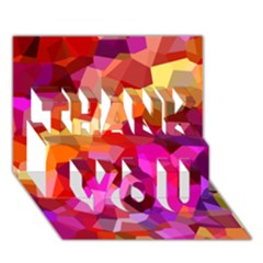 Geometric Fall Pattern Thank You 3d Greeting Card (7x5) by DanaeStudio