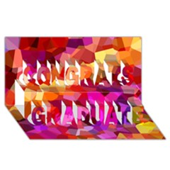 Geometric Fall Pattern Congrats Graduate 3d Greeting Card (8x4) by DanaeStudio