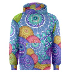 India Ornaments Mandala Balls Multicolored Men s Pullover Hoodie by EDDArt
