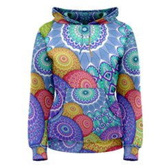 India Ornaments Mandala Balls Multicolored Women s Pullover Hoodie by EDDArt