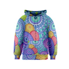 India Ornaments Mandala Balls Multicolored Kids  Zipper Hoodie by EDDArt