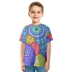 India Ornaments Mandala Balls Multicolored Kids  Sport Mesh Tee by EDDArt