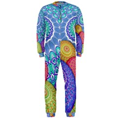 India Ornaments Mandala Balls Multicolored Onepiece Jumpsuit (men)  by EDDArt