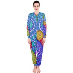 India Ornaments Mandala Balls Multicolored Onepiece Jumpsuit (ladies)  by EDDArt