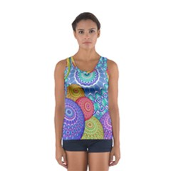 India Ornaments Mandala Balls Multicolored Women s Sport Tank Top  by EDDArt