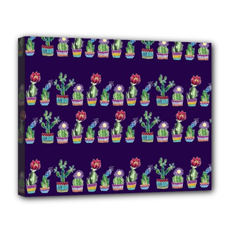 Cute Cactus Blossom Canvas 14  X 11