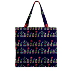 Cute Cactus Blossom Grocery Tote Bag