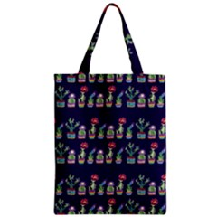 Cute Cactus Blossom Zipper Classic Tote Bag by DanaeStudio