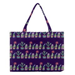 Cute Cactus Blossom Medium Tote Bag