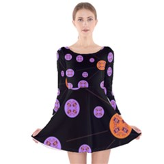 Alphabet Shirtjhjervbret (2)fvgbgnh Long Sleeve Velvet Skater Dress