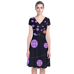Alphabet Shirtjhjervbret (2)fvgbgnh Short Sleeve Front Wrap Dress