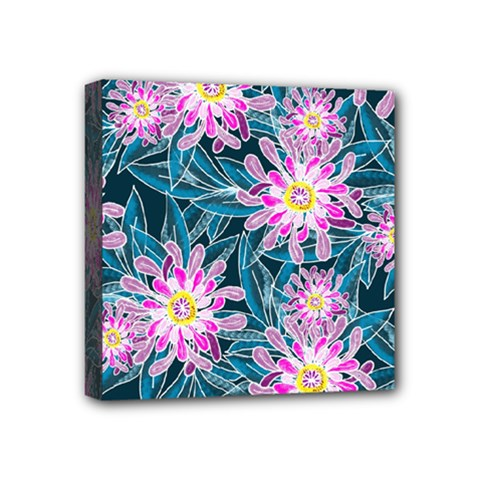 Whimsical Garden Mini Canvas 4  X 4  by DanaeStudio