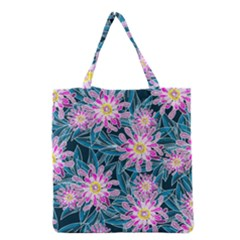 Whimsical Garden Grocery Tote Bag by DanaeStudio