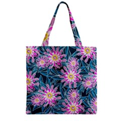 Whimsical Garden Zipper Grocery Tote Bag by DanaeStudio