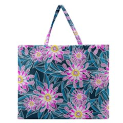 Whimsical Garden Zipper Large Tote Bag by DanaeStudio