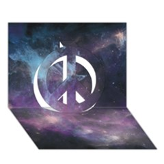 Blue Galaxy  Peace Sign 3d Greeting Card (7x5) by DanaeStudio