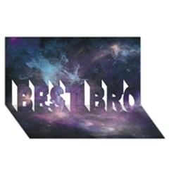 Blue Galaxy  Best Bro 3d Greeting Card (8x4) by DanaeStudio