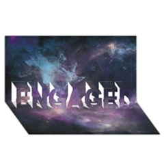 Blue Galaxy  Engaged 3d Greeting Card (8x4) by DanaeStudio