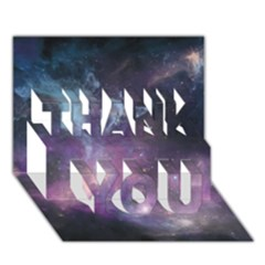 Blue Galaxy  Thank You 3d Greeting Card (7x5) by DanaeStudio