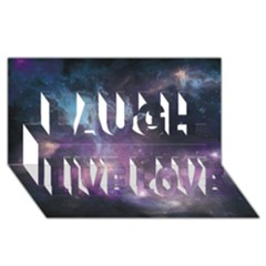 Blue Galaxy  Laugh Live Love 3d Greeting Card (8x4) by DanaeStudio