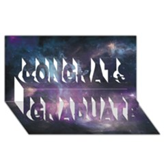 Blue Galaxy  Congrats Graduate 3d Greeting Card (8x4) by DanaeStudio