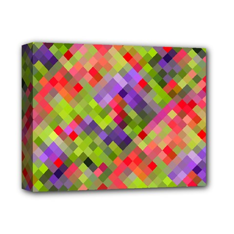 Colorful Mosaic Deluxe Canvas 14  X 11  by DanaeStudio
