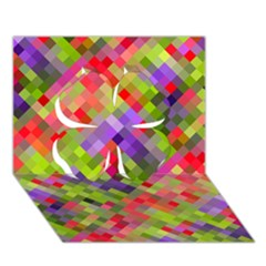 Colorful Mosaic Clover 3d Greeting Card (7x5) by DanaeStudio