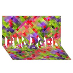 Colorful Mosaic Engaged 3d Greeting Card (8x4) by DanaeStudio