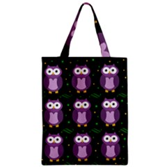 Halloween Purple Owls Pattern Classic Tote Bag by Valentinaart