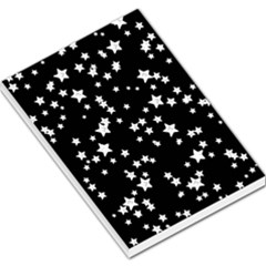 Black And White Starry Pattern Large Memo Pads by DanaeStudio