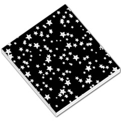 Black And White Starry Pattern Small Memo Pads by DanaeStudio