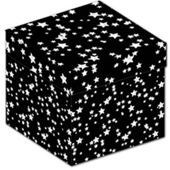 Black And White Starry Pattern Storage Stool 12   by DanaeStudio
