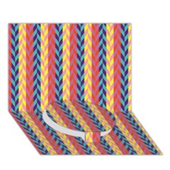 Colorful Chevron Retro Pattern Circle Bottom 3d Greeting Card (7x5) by DanaeStudio