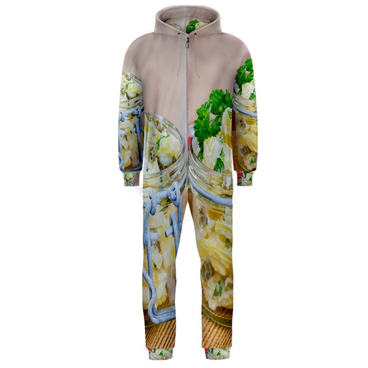 1 Kartoffelsalat Einmachglas 2 Hooded Jumpsuit (Men)