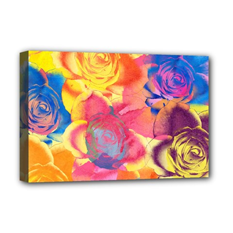 Pop Art Roses Deluxe Canvas 18  x 12