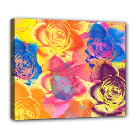 Pop Art Roses Deluxe Canvas 24  x 20