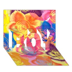Pop Art Roses BOY 3D Greeting Card (7x5)