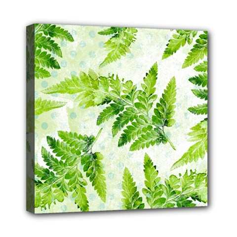 Fern Leaves Mini Canvas 8  X 8