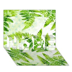 Fern Leaves Hope 3d Greeting Card (7x5)