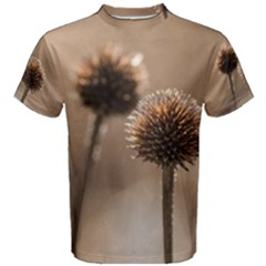 Withered Globe Thistle In Autumn Macro Men s Cotton Tee by wsfcow