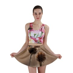 Withered Globe Thistle In Autumn Macro Mini Skirt by wsfcow